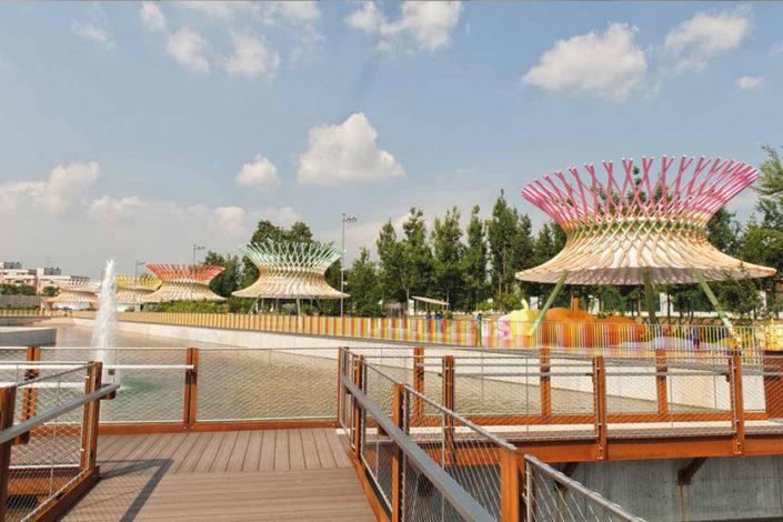 WAVE TEXTILE ARCHITECTURE - Expo Milano - Tenso Progetto Speciale