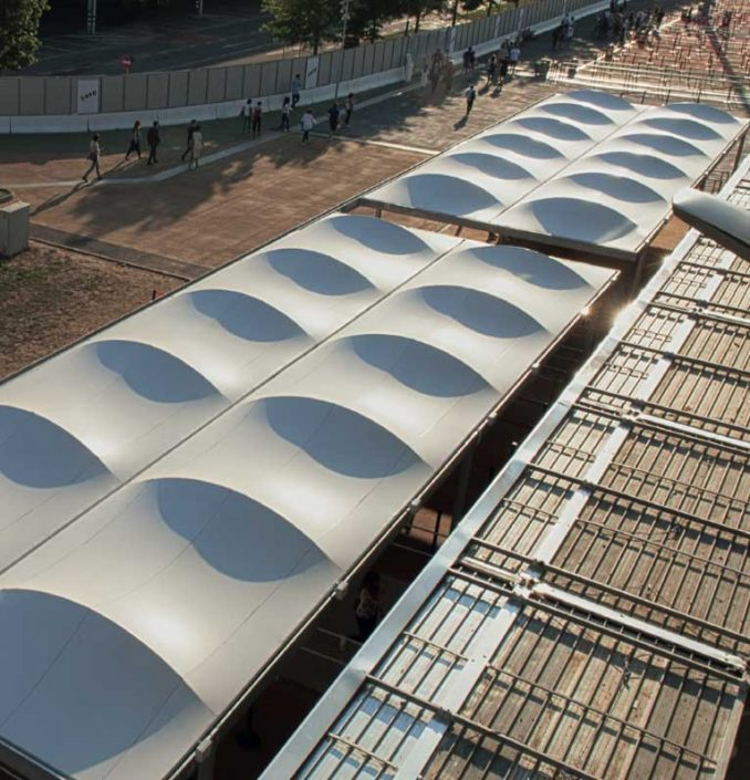 WAVE TEXTILE ARCHITECTURE - Expo Milano- Tenso Modulari